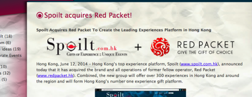 Spoilt Acquires Its Biggest Competitor Red Packet