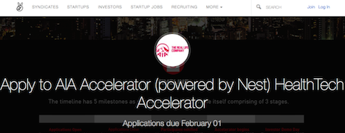Ten More Days Left. Apply for AIA Accelerator Powered by Nest