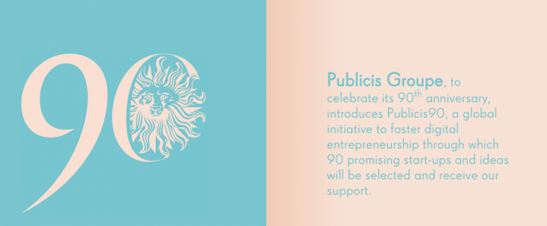 Publicis Groupe Searching for Promising Startups. Apply Now.